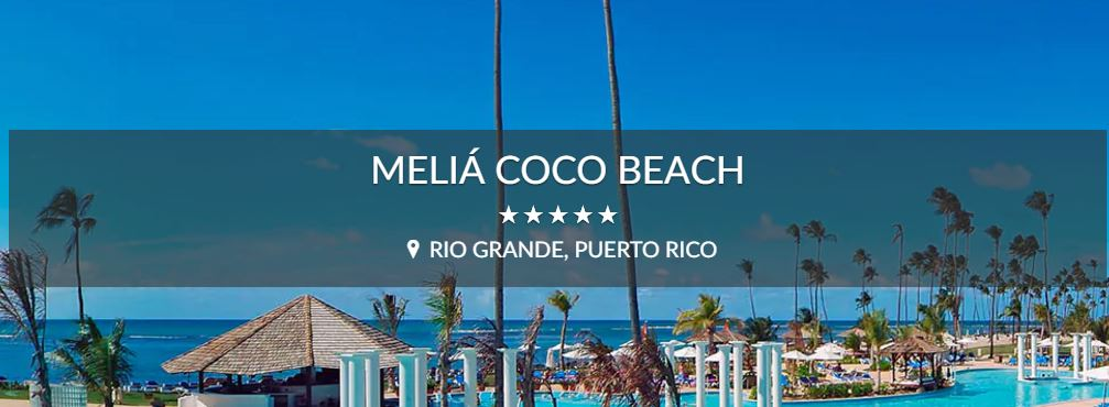 Meliá Coco Beach, Puerto Rico
